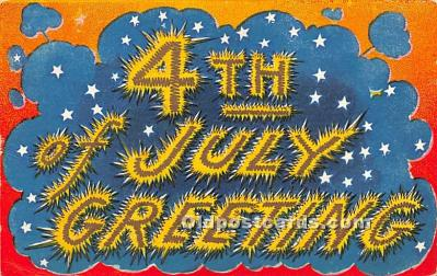 foj000014 - July 4th Independence Day Post Card