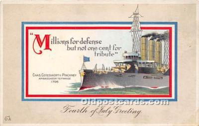 foj000020 - July 4th Independence Day Post Card