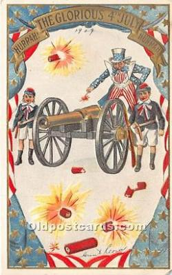 foj000034 - July 4th Independence Day Post Card