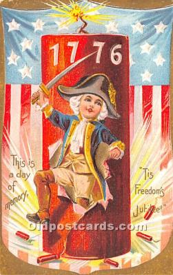 foj000038 - July 4th Independence Day Post Card