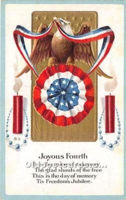 foj000071 - July 4th Independence Day Post Card
