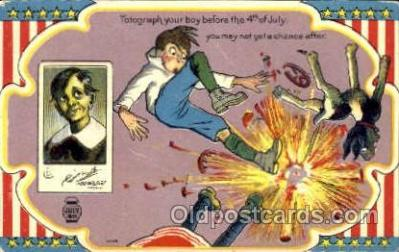 foj001073 - 4th, Fouth of July, Independence Day, Postcard Post Card