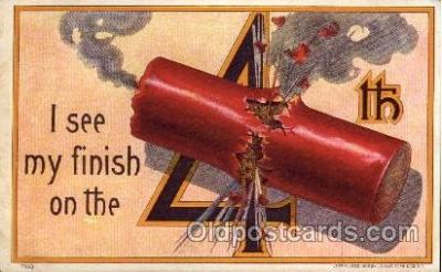 foj001134 - Forth of July, 4th of July, Fireworks, Postcard Post Card