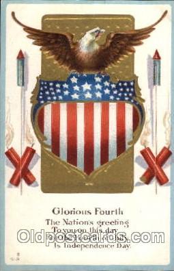 foj001141 - Forth of July, 4th of July, Fireworks, Postcard Post Card