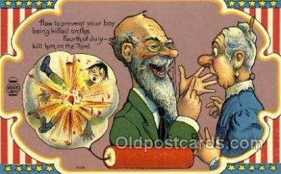 foj001187 - Fourth of July 4th, Independence Day, Old Vintage Antique Postcard Post Card