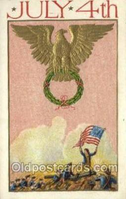 foj001192 - Fourth of July 4th, Independence Day, Old Vintage Antique Postcard Post Card