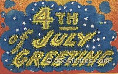 foj001212 - 4th, Fourth of July Postcard Post Card Old Vintage Antique