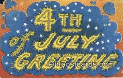 foj001214 - 4th, Fourth of July Postcard Post Card Old Vintage Antique