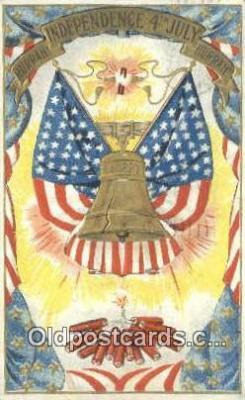 foj001215 - 4th, Fourth of July Postcard Post Card Old Vintage Antique