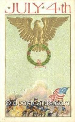 foj001234 - Fourth, 4th of July Postcard Post Card Old Vintage Antique