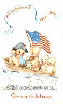 foj001238 - Bicentennial 1776 - 1976 Fourth, 4th of July Postcard Post Card Old Vintage Antique