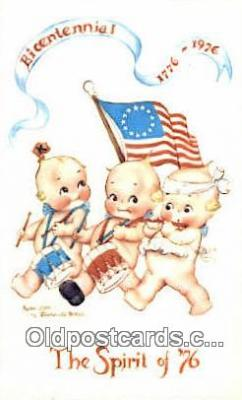 foj001240 - Bicentennial 1776 - 1976 Fourth, 4th of July Postcard Post Card Old Vintage Antique