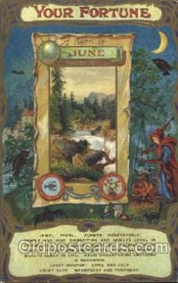 for001018 - June Furtune, Fortunes, Postcard Post Card
