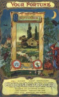 for001021 - September Furtune, Fortunes, Postcard Post Card
