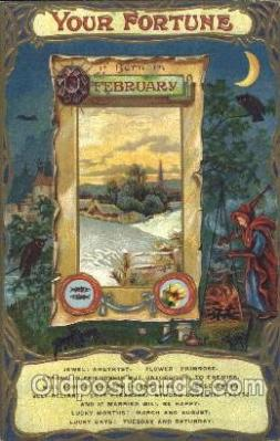 for001025 - February Furtune, Fortunes, Postcard Post Card