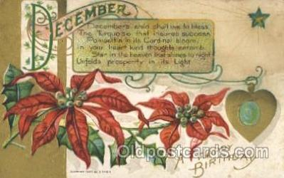 for001030 - December Furtune, Fortunes, Postcard Post Card