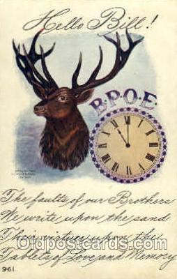 fra001011 - B.P.O.E. Elks, Fraternal Postcard Post Card