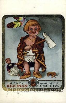 fra001013 - Red Man, Fraternal Postcard Post Card