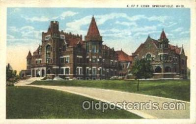 fra001020 - Springfield, Ohio, USA  Fraternal, Postcard Post Card
