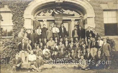 fra001021 - Virtute Overtoun Hall, University of Illinois? Fraternal, Postcard Post Card