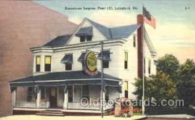 fra100002 - Lansford, Pa, USA American Legion, Post 123 Fraternal Postcard Post Card