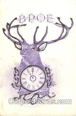 fra200013 - Fraternal Elks Club (B.P.O.E.) Postcard Post Card