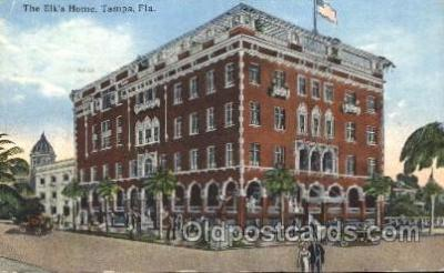 fra200019 - Tampa, Florida, USA Fraternal Elks Club (B.P.O.E.) Postcard Post Card