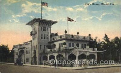 fra200023 - Miami, Florida, USA Fraternal Elks Club (B.P.O.E.) Postcard Post Card