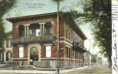 fra200027 - Mobile, Alabama Ala, USA Fraternal Elks Club (B.P.O.E.) Postcard Post Card