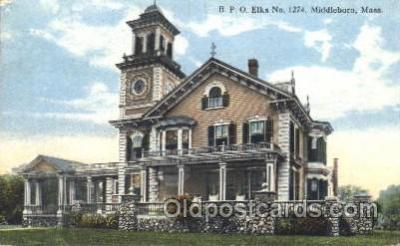 fra200036 - Middleboro, Mass, USA Fraternal Elks Club (B.P.O.E.) Postcard Post Card