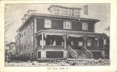 fra200040 - Apollo, Pa, USA Fraternal Elks Club (B.P.O.E.) Postcard Post Card
