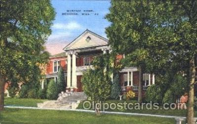fra400004 - Meridian, Miss. Mason, Mason's Fraternal Organization, Postcard Post Card