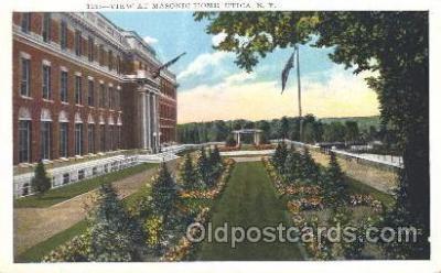 fra400008 - Utica, New York, N.Y., USA Mason, Mason's Fraternal Organization, Postcard Post Card