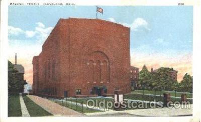 fra400009 - Cleveland, Ohio Mason, Mason's Fraternal Organization, Postcard Post Card