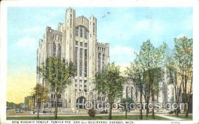 fra400012 - Detroit, Mich. Mason, Mason's Fraternal Organization, Postcard Post Card