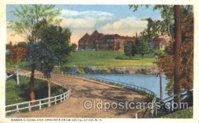 fra400013 - Utica, New York, N.Y., USA Mason, Mason's Fraternal Organization, Postcard Post Card