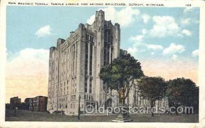 fra400014 - Detroit, Michigan Mason, Mason's Fraternal Organization, Postcard Post Card