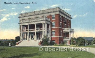 fra400015 - Manchester, N.H. Mason, Mason's Fraternal Organization, Postcard Post Card