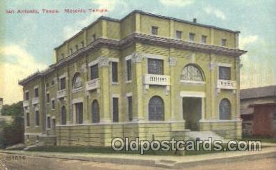 fra400016 - San Antonio Mason, Mason's Fraternal Organization, Postcard Post Card