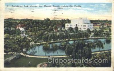 fra400017 - Jacksonville, Florida, USA Mason, Mason's Fraternal Organization, Postcard Post Card