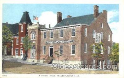 fra400019 - Fredericksburg, VA Mason, Mason's Fraternal Organization, Postcard Post Card
