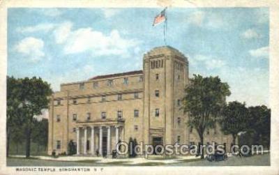 fra400021 - Utica, New York, N.Y., USA Mason, Mason's Fraternal Organization, Postcard Post Card