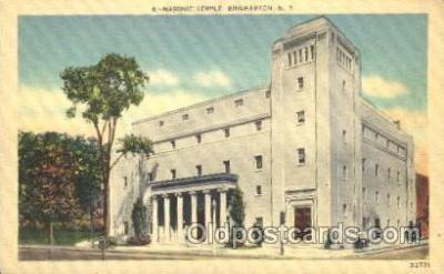 fra400024 - Binghamton Mason, Mason's Fraternal Organization, Postcard Post Card