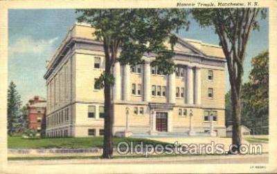 fra400029 - Manchester, N.H. USA Mason, Mason's Fraternal Organization, Postcard Post Card