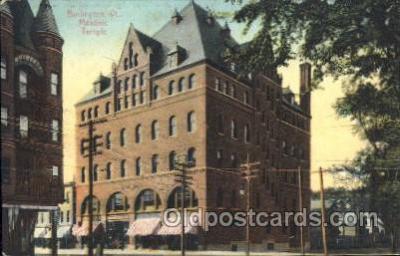 fra400032 - Burlington, Vt. USA Mason, Mason's Fraternal Organization, Postcard Post Card
