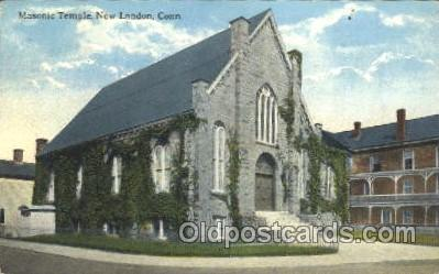 fra400036 - New London, Conn. USA Mason, Mason's Fraternal Organization, Postcard Post Card