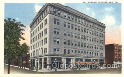 fra400040 - Eric, PA. USA Mason, Mason's Fraternal Organization, Postcard Post Card