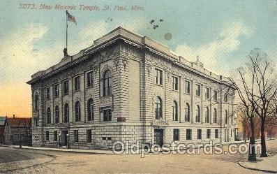 fra400042 - St. Paul. Minn. Mason, Mason's Fraternal Organization, Postcard Post Card