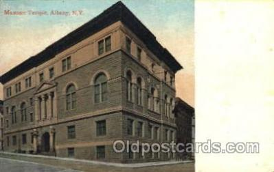 fra400043 - Albany, New York, N.Y., USA Mason, Mason's Fraternal Organization, Postcard Post Card