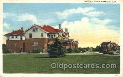 fra400045 - Fremont, Nebraska USA Mason, Mason's Fraternal Organization, Postcard Post Card